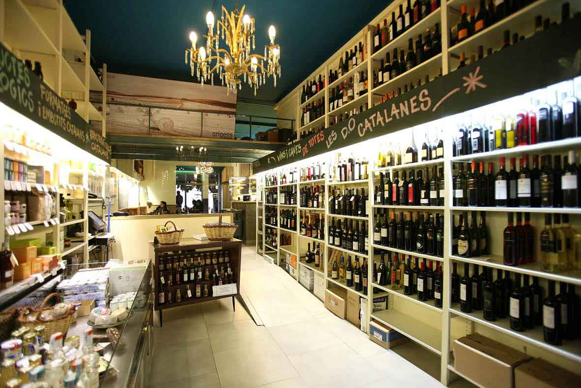 Restaurante y tienda en Gracia, Barcelona (Ramon y Cajal 12) , La Llavor dels Origens, productos D. O. Catalunya
